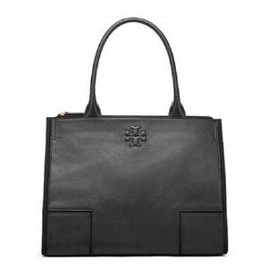 Tory Burch Mini Ella Canvas and Leather Tote Bag